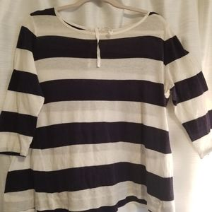 Loft navy stripe top
